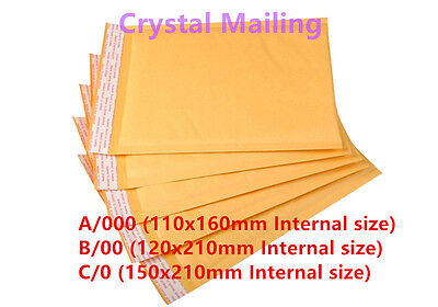 A/000 B/00 C/0 Quality Padded Bubble Lined Mail Envelope Lite Bags Cheap Price