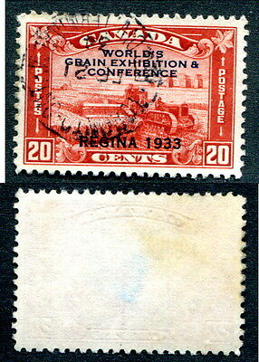 Used Canada 20 Cent Grain Exhibition Stamp #203 (Lot #6106)