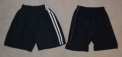 Lot of Two (2) Black Athletic Shorts - Size XS (4/5)