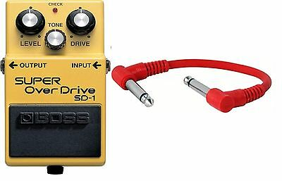 Boss SD-1 Super Overdrive Guitar Pedal sd1 - INCLUDING PATCH CABLE- New