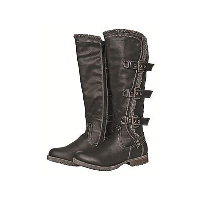 SALE! HKM Winter Fashion Boots with Buckles for Rider - Black - EU 39 - UK 6