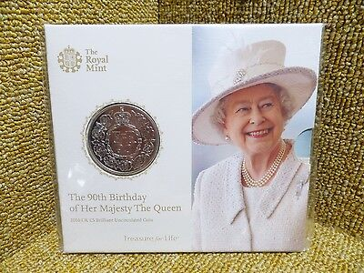 The Royal Mint Queen's 90th Birthday 2016 UK £5 Fine Silver Coin