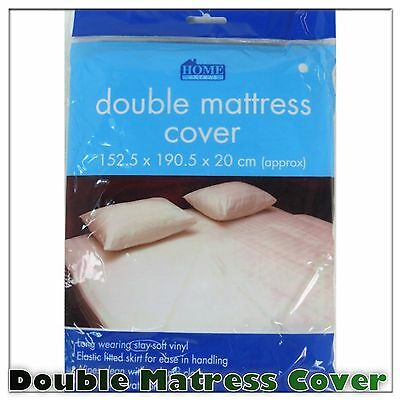 Double Fitted Mattress Protector Sheet Matress Cover Water Resistant Washable Uk