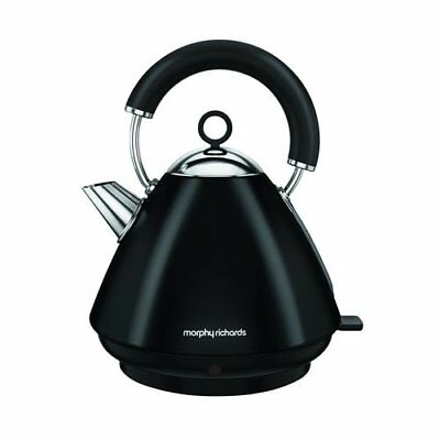 Morphy Richards Accents 1.5L Cordless Stainless Steel Pyramid Kettle Black