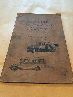 Vintage Bedford Instruction Book 30 Cwt 2Ton And Coach Models 3Rd Edition