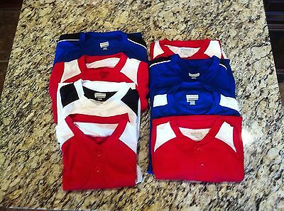 Augusta New Youth Adult Performance Short Sleeve Baseball Shirt Lot of eight (8)