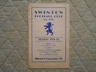 Swinton V Hull Rugby League Match Programme 1954
