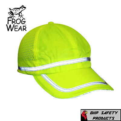 Hi-Vis Lime Reflective Hat/baseball Cap Safety, Breathable Mesh, High Visibility