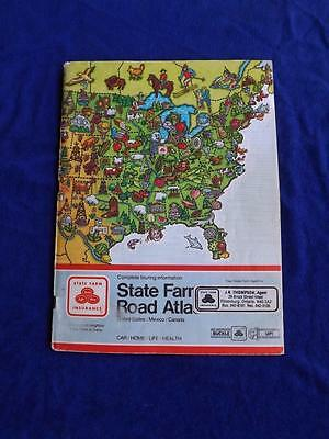 State Farm Road Atlas Book 1984 Rand Mcnally Travel Guide