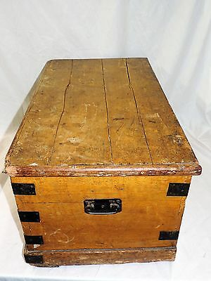 Georgian Antique Pine Blanket Box / Chest / Trunk / Table CAN DELIVER