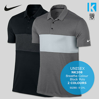 Nike NK208 Mens Sport Block Dri-Fit Golf Tennis Polo Shirt 2 Colours Breathe Top