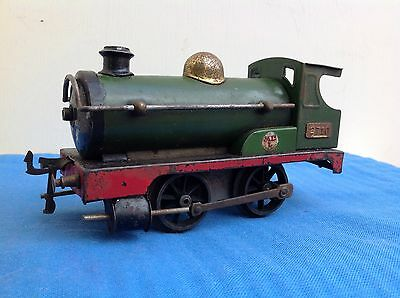 "Hornby O Gauge Engine No2710 ""MLL"" Green & Red No Cab Roof Unboxed."