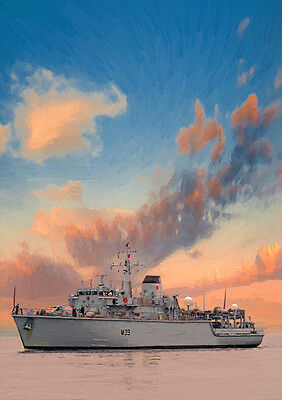 Hms Hurworth - Hand Finished, Limited Edition (25)