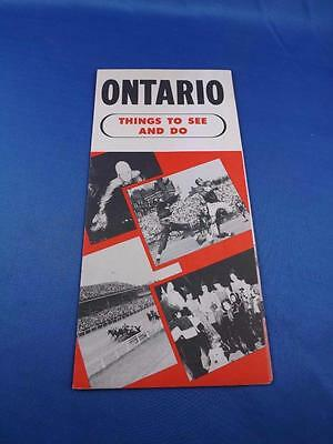 Advertising Brochure Ontario Things To See And Do Holidays Attractions Sports