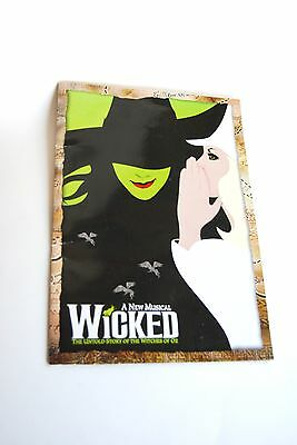 Wicked, A New Musical Play Bill, Program