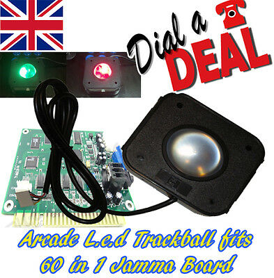 Arcade trackball L.E.D  fits icade 60 in 1 jamma pcb plug and play