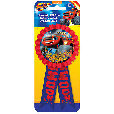 Blaze and the Monster Machines Confetti Award Ribbon Badge Birthday Party Boy