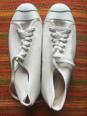 Size 11 Unworn VINTAGE USA MADE Converse JACK PURCELL Tennis Shoe Sneakers WHITE
