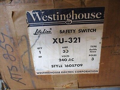 Westinghouse XU321, 30 Amp 240 Volt Double Throw Switch- ATS259- NEW