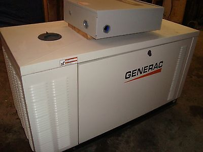 25 Kw Generator Natural Gas Propane 2011 54 Hrs 120/240 W/ 100 Amp Ats Switch