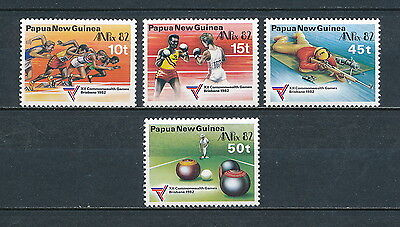 Papua New Guinea  571-74 MNH, Commonwealth Games, 1982