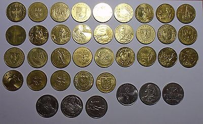 Poland -  Collection of 38 Coins - 2 , 10,000 and 20,000 Zlotych