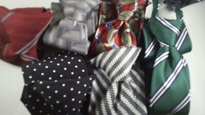 Lots of 6 Boy's Pre-tied Neck Ties UNIQUE STYLISH Brown Blue Green