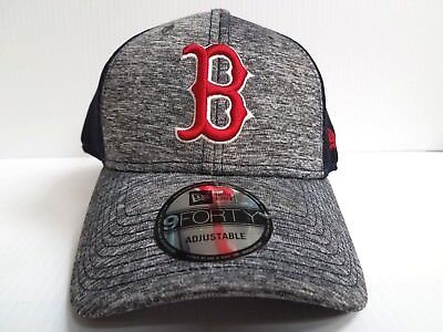 ... Pivot 9FORTY Adjustable Hat  sale retailer 92fc8 307b4 Boston Red Sox Adjustable  Cap New Era 9Forty Hook Loop Mesh Shadow ... 12783a145b93