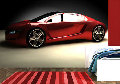 Wall Mural photo WALLPAPER for bedroom & living room Red sports car kids room