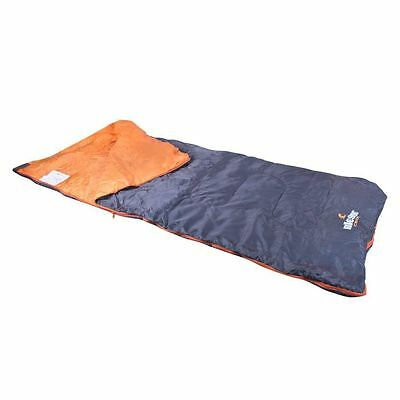Milestone Camping Envelope Sleeping Bag Black hiking outdoor