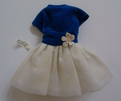 Blue Velvet Dress American Character Cricket Doll Vintage Tressy