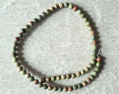 1 LOT DE 85 PERLES en Unakite 4 mm