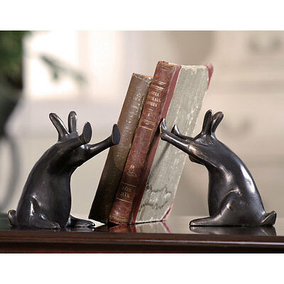 Rabbit Pushing Books Bookends