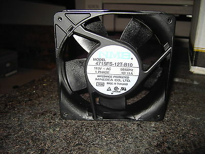 NEW  NMB Model 4715FS-12T-B10  cooling fan, 115 VAC 60 hz 119 mm X 38 mm