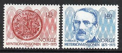 NORWAY MNH 1975 The 100th anniversary of the Coin and Metre Convention
