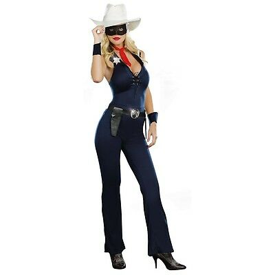 Cowgirl Costume Adult Lone Ranger Halloween Fancy Dress