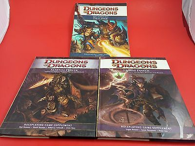 Three 3 Dungeons & Dragons Roleplaying Game Supplement 4th Edition Bundle