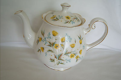 Tea Pot-Bone China-Made in England-Spring flowers