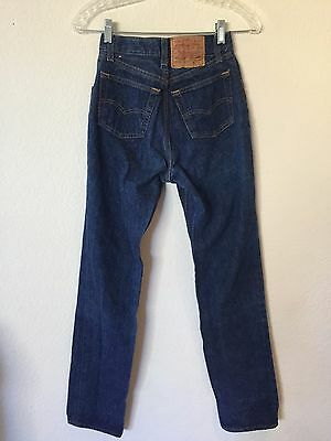 VTG 70s Womens Levis 501 Jeans HIGH WAIST Shrink To Fit 24x32 26501-0118 90s