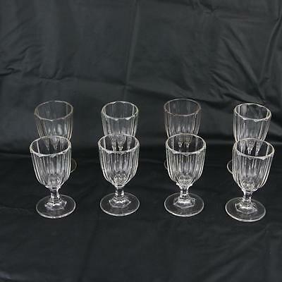 Set of 8 Antique Huber Goblets c1860 Georgian Glass?  Glasses Estate