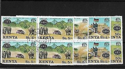 Kenya 1977 Safari Rally Set In Blocks, Used, Odd Perf Fault