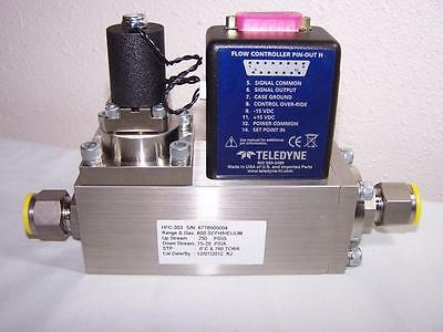 Teledyne Hasting Hfc-303 Mass Flow Controller 600 Scfh/helium New