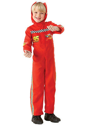 Cars Lightning McQueen Kids Fancy Dress Up Costume - Perfect for little racers