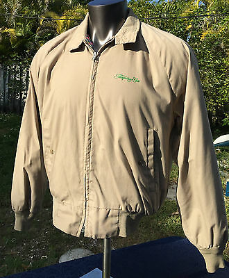 VINTAGE CAL CRAFT TANQUERAY Gin LOGO Size LARGE BEIGE JACKET USA Windbreaker