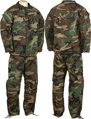 Camouflage Government Issue CBRN BDU Chemical Suit X-Small NSN 8415-01-137-1702
