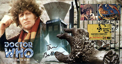 Doctor Who The Hand Of Fear Collectable Stamp Cover Signed by TOM BAKER