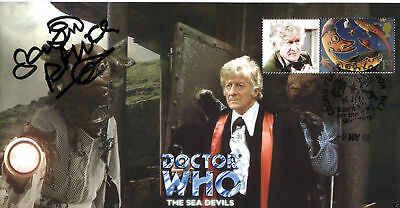 Doctor Who The Sea Devils Collectable Stamp Cover Signed by SEAN PERTWEE