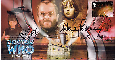 Doctor Who The War Games Collectable Stamp Cover Signed MADOC & PADBURY