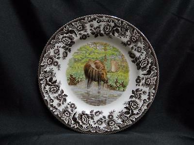"Spode Woodland Majestic Moose: Salad Plate (s), 7.75"", NEW w/ Orig Box"
