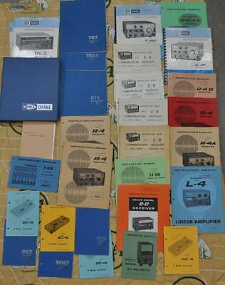 COLLECTION of DRAKE MANUALS : R-4C, R-7, TR7A, L-4 and MORE
